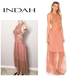 INDAH BoHo lace and crochet dress. NWT